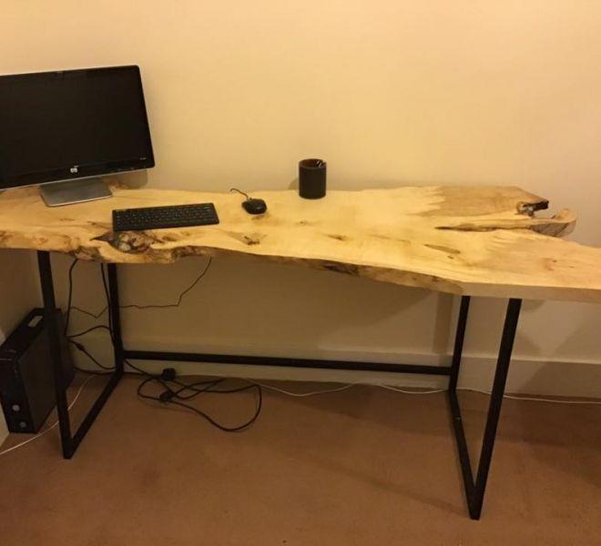 natural wood desk elm table